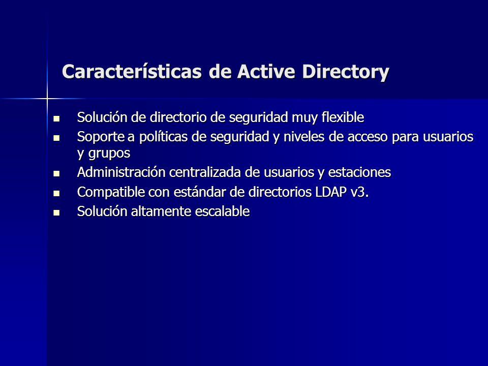 Características de Active Directory