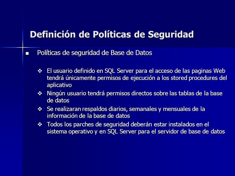 Definición de Políticas de Seguridad