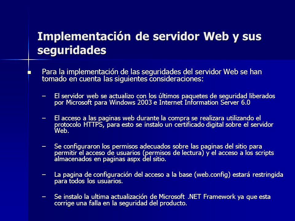 Implementación de servidor Web y sus seguridades