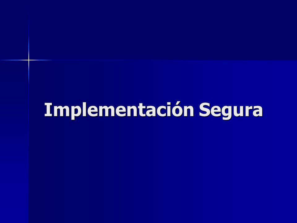 Implementación Segura