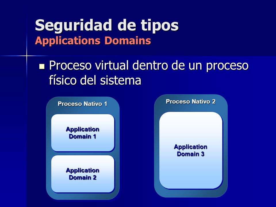Seguridad de tipos Applications Domains