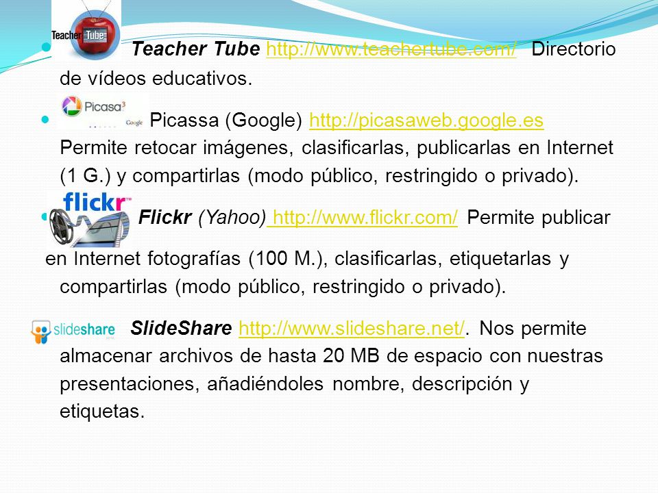 Teacher Tube http://www. teachertube