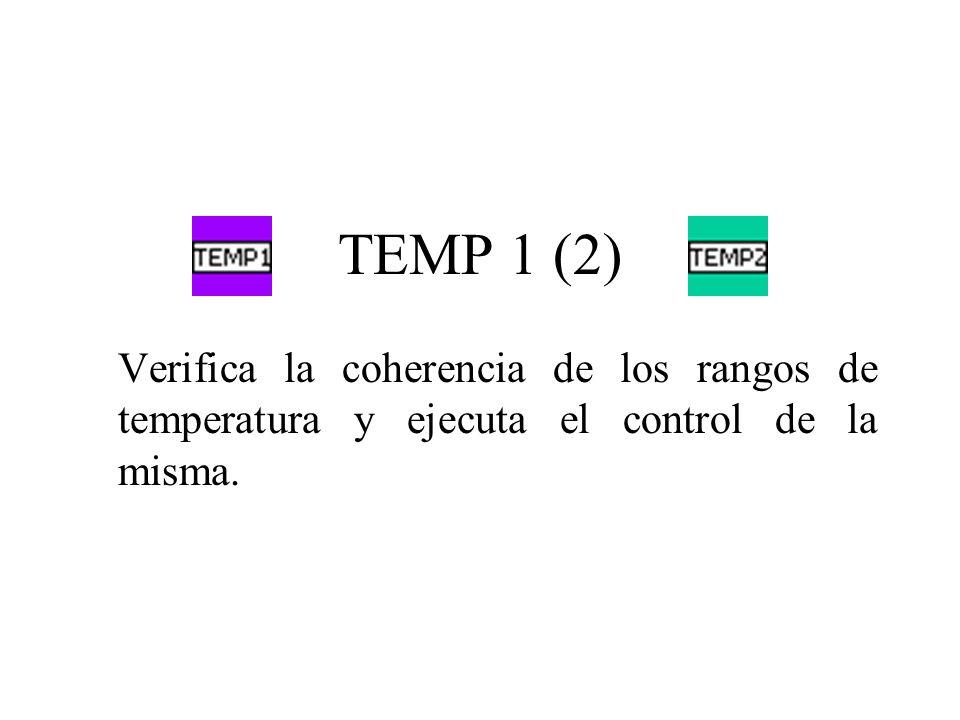 TEMP 1 (2) Verifica la coherencia de los rangos de temperatura y ejecuta el control de la misma.