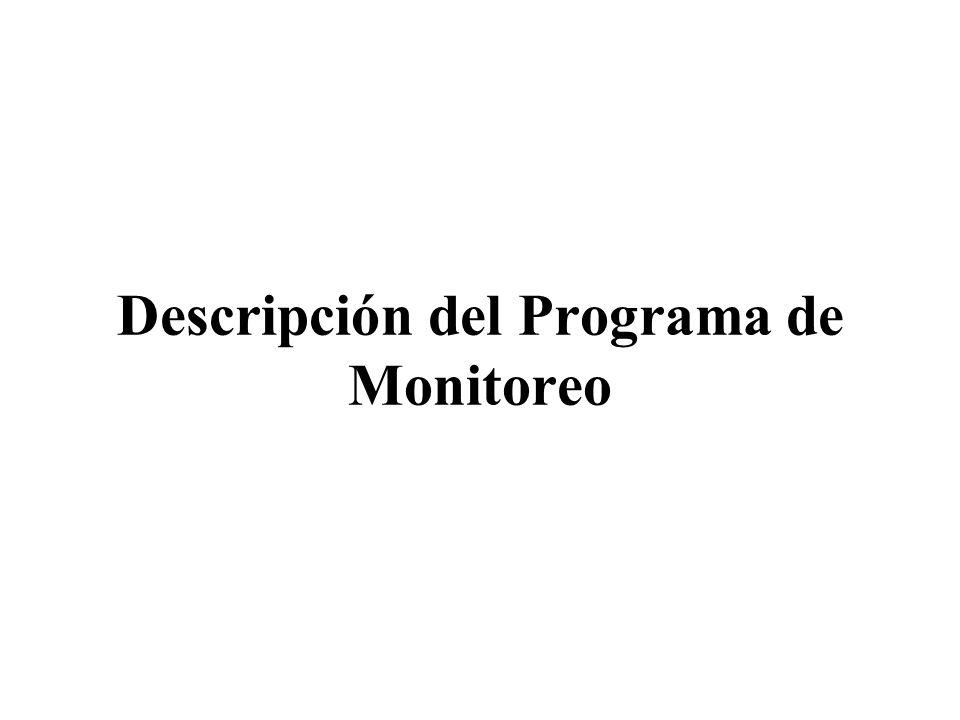 Descripción del Programa de Monitoreo