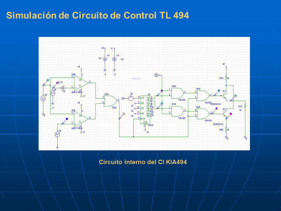 Simulación de Circuito de Control TL 494