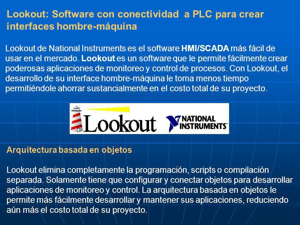 Lookout: Software con conectividad a PLC para crear interfaces hombre-máquina