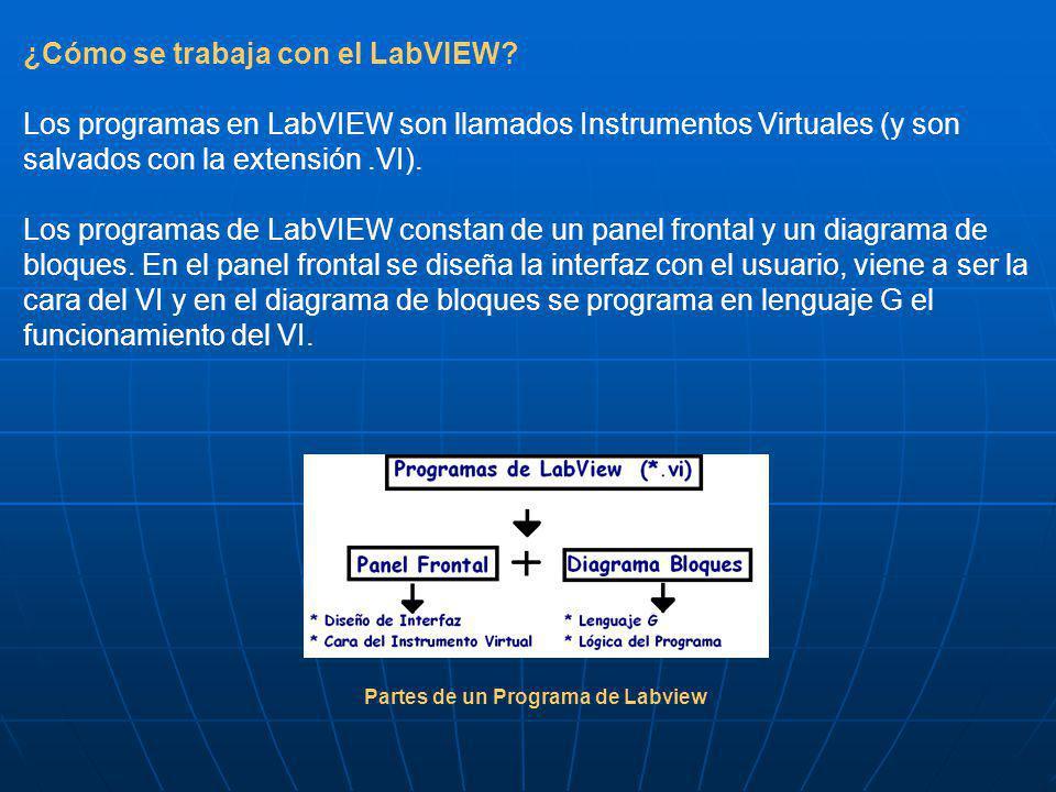 ¿Cómo se trabaja con el LabVIEW