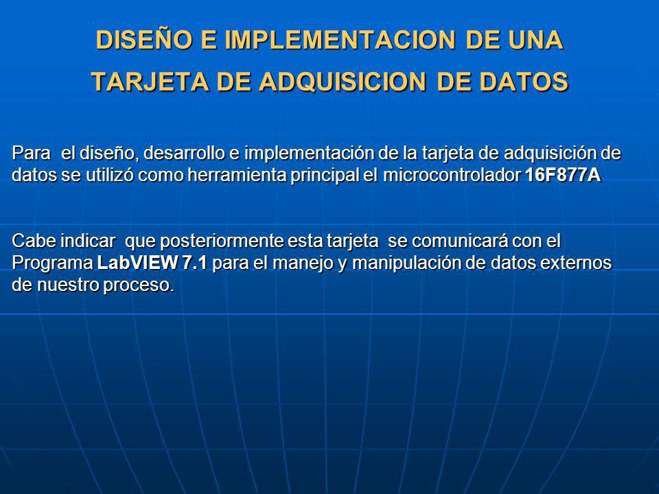 DISEÑO E IMPLEMENTACION DE UNA TARJETA DE ADQUISICION DE DATOS