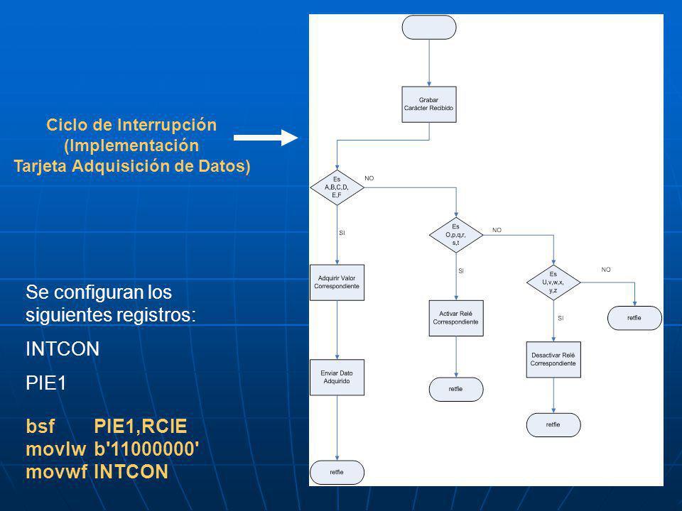 Ciclo de Interrupción (Implementación Tarjeta Adquisición de Datos)