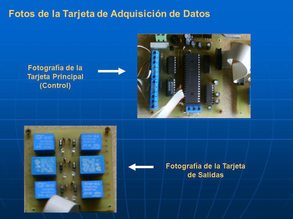Fotos de la Tarjeta de Adquisición de Datos