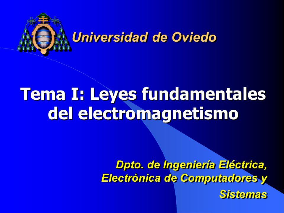 Tema I: Leyes fundamentales del electromagnetismo