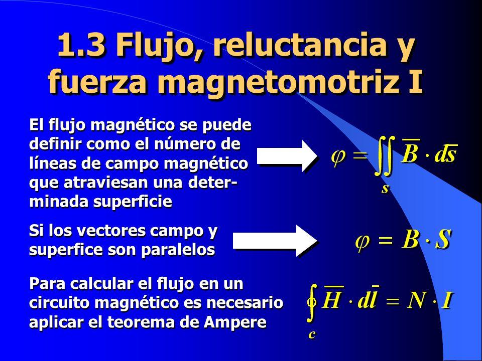 1.3 Flujo, reluctancia y fuerza magnetomotriz I