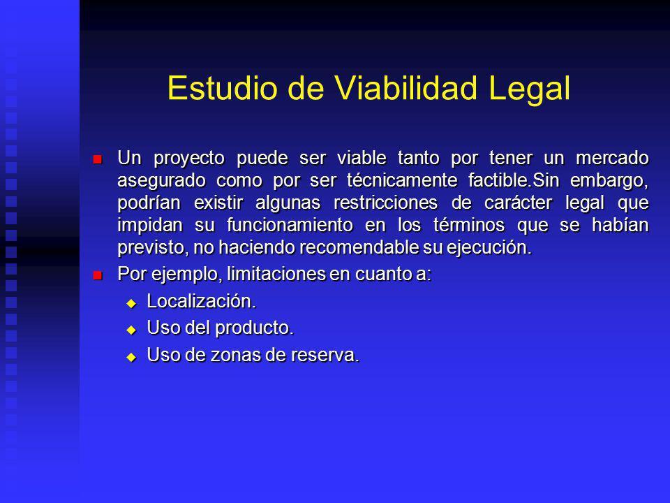 Estudio de Viabilidad Legal