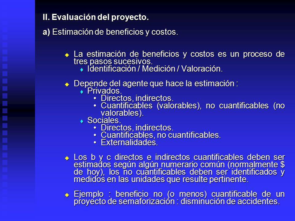 II. Evaluación del proyecto.