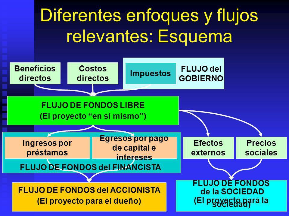 Diferentes enfoques y flujos relevantes: Esquema