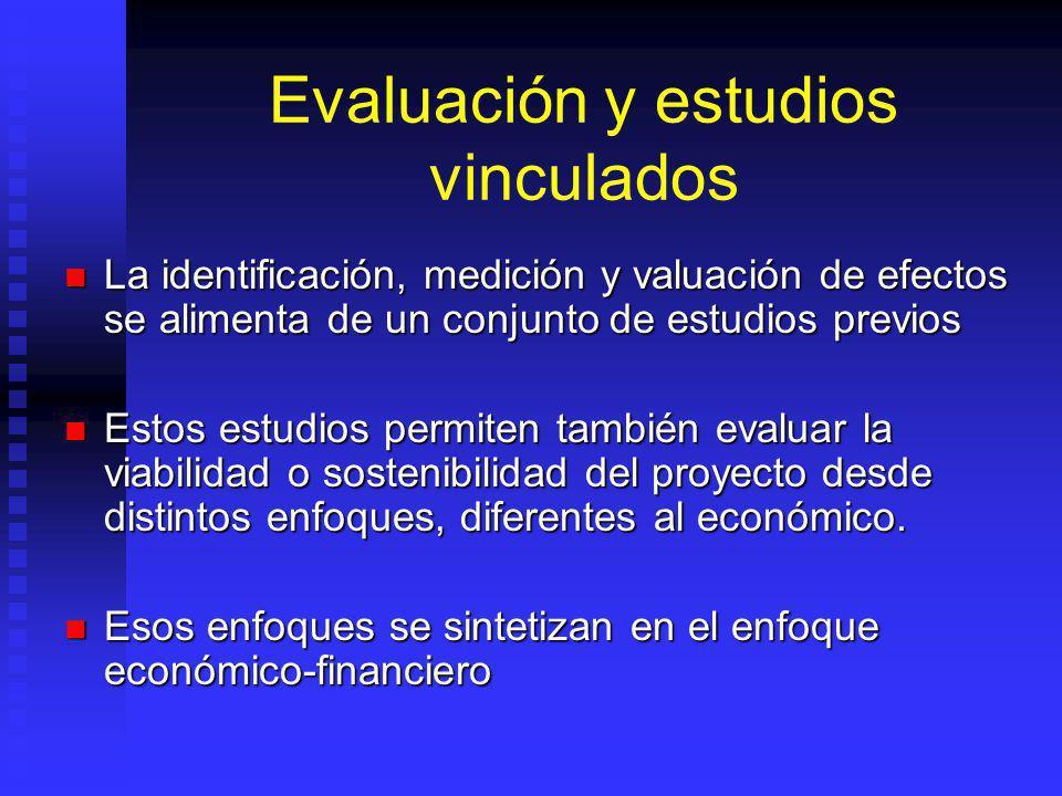 Evaluación y estudios vinculados