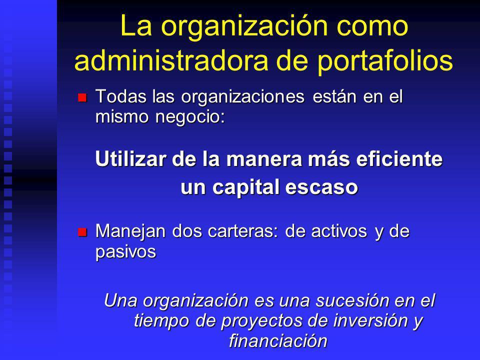 La organización como administradora de portafolios