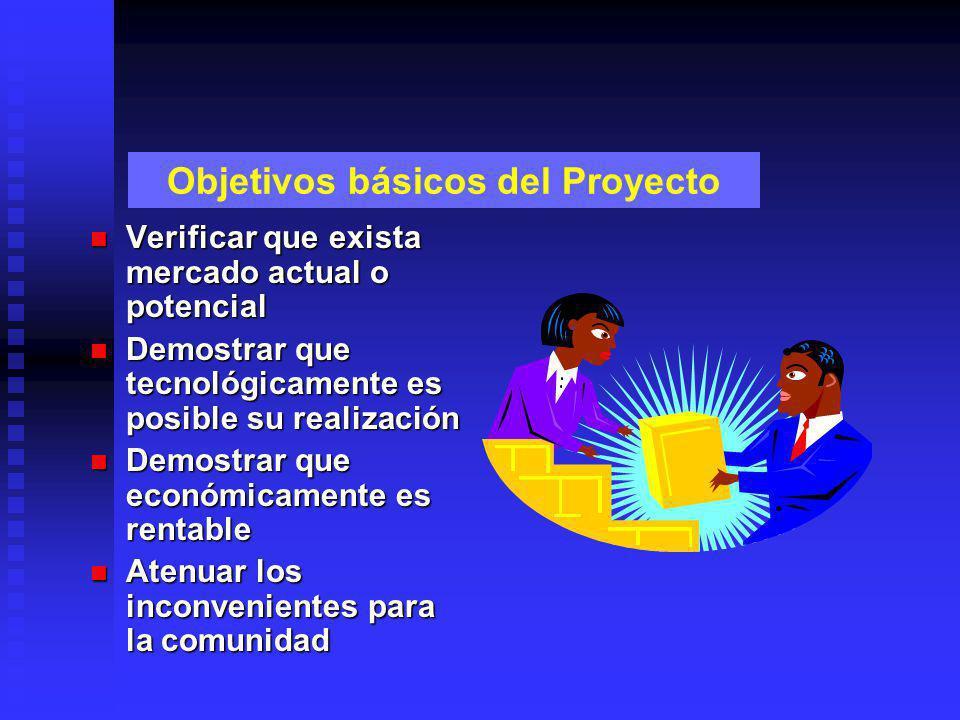 Objetivos básicos del Proyecto