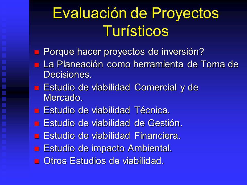 Evaluación de Proyectos Turísticos