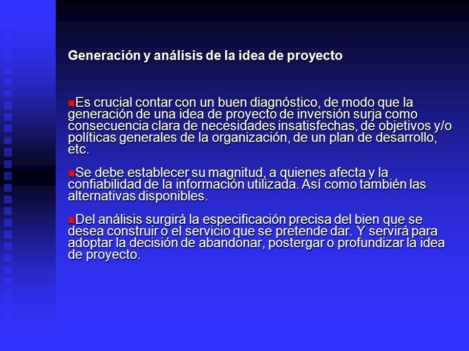 Generación y análisis de la idea de proyecto