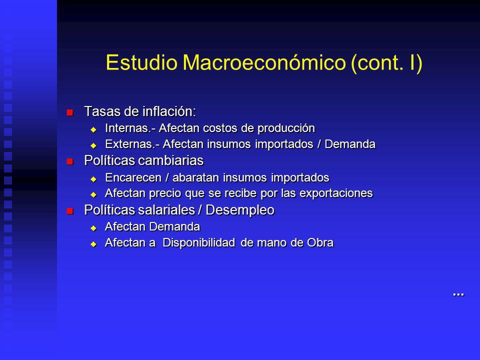Estudio Macroeconómico (cont. I)