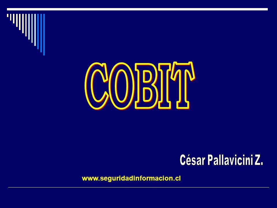 COBIT César Pallavicini Z. www.seguridadinformacion.cl