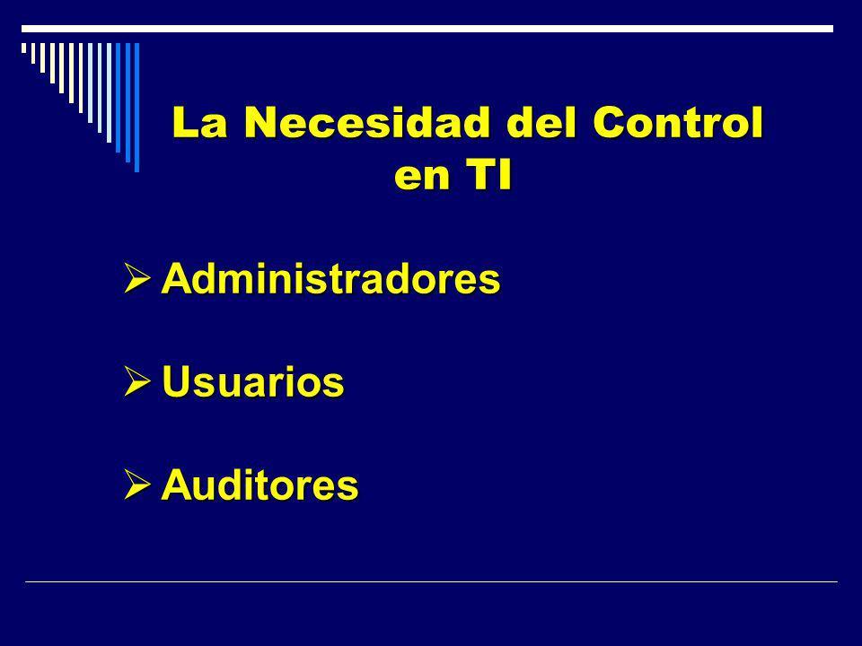 La Necesidad del Control en TI