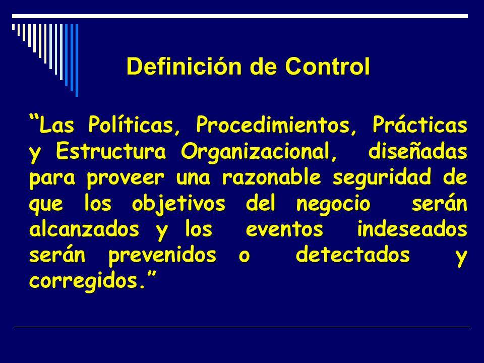 Definición de Control