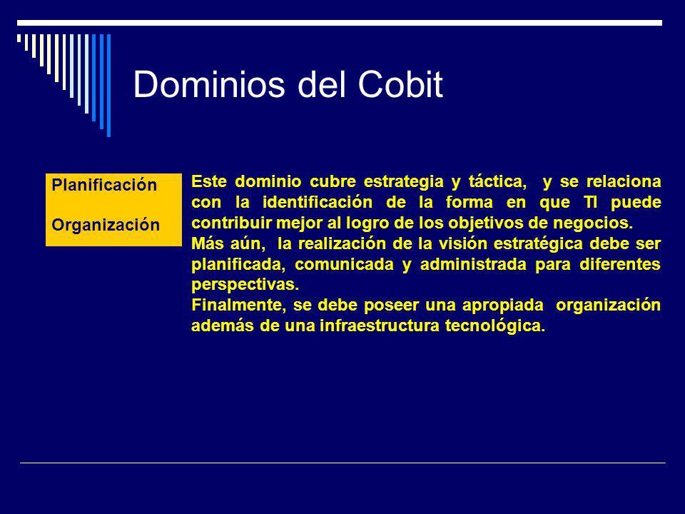 Dominios del Cobit Planificación. y.