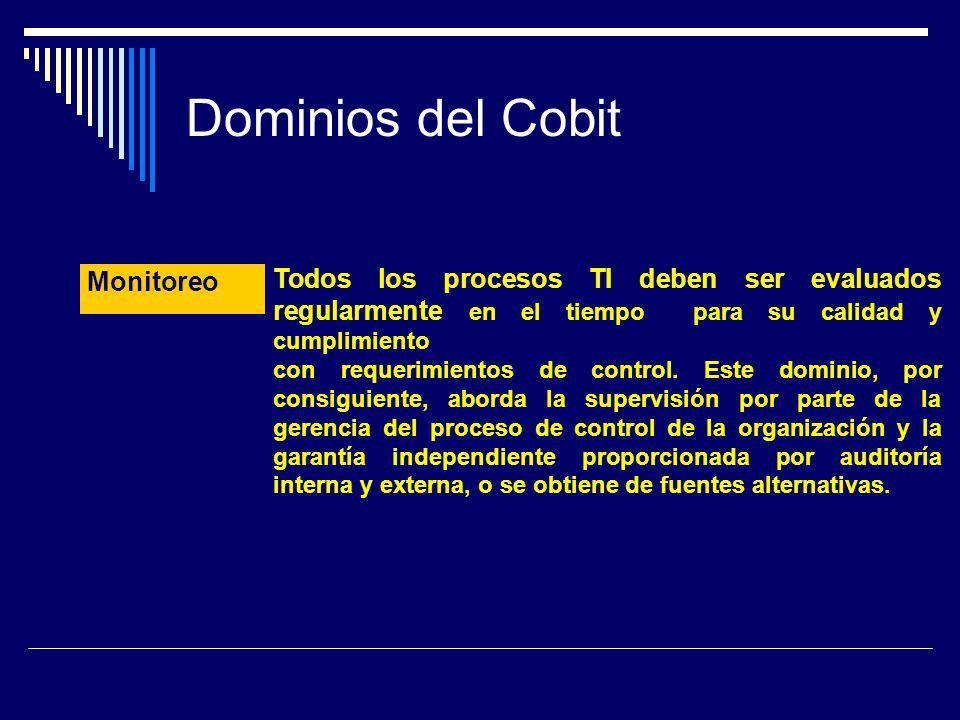 Dominios del Cobit Monitoreo