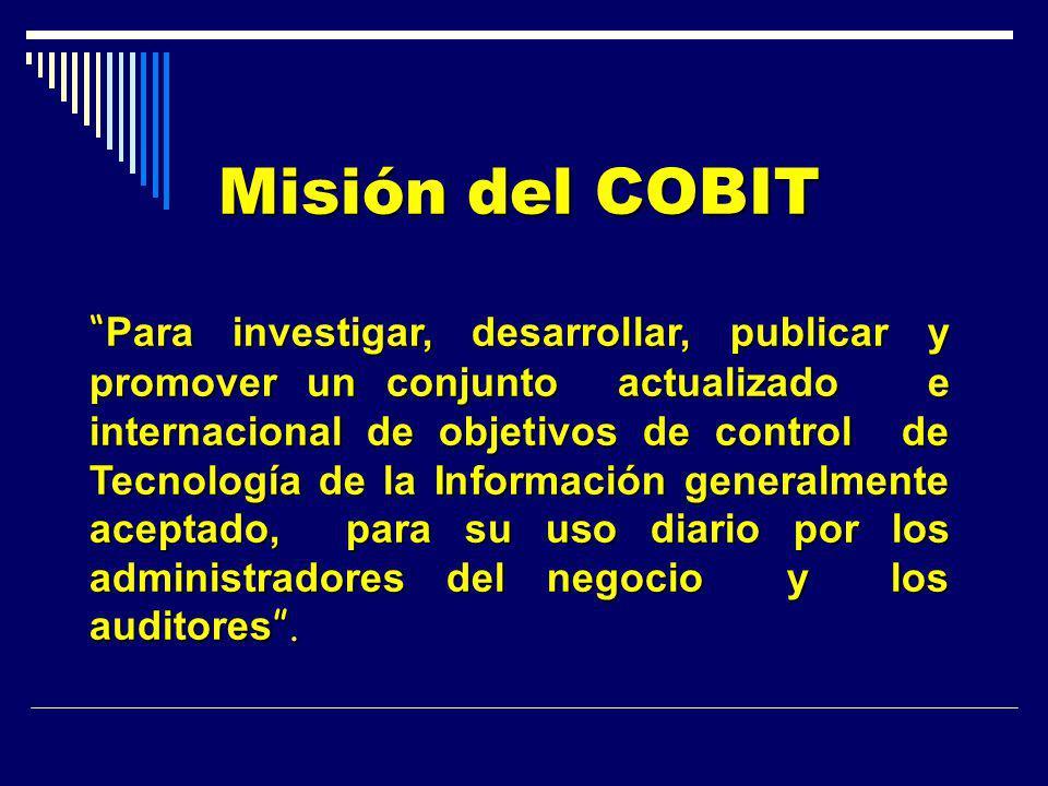 Misión del COBIT