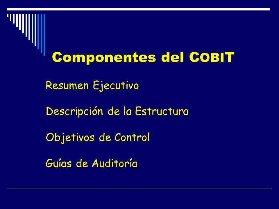 Componentes del COBIT Resumen Ejecutivo Descripción de la Estructura