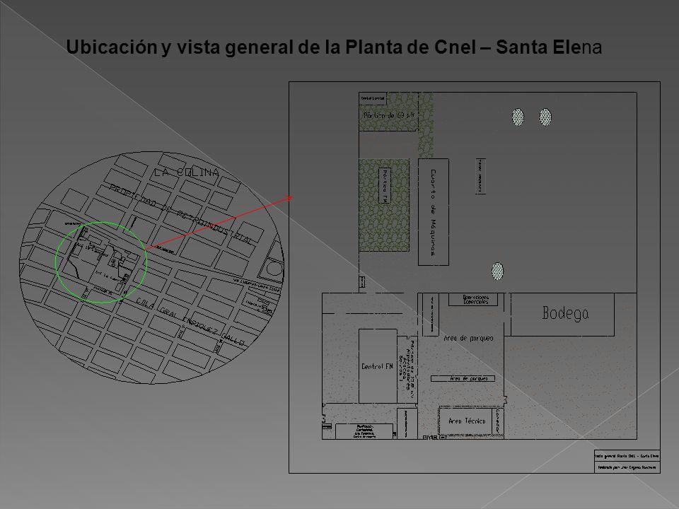 Ubicación y vista general de la Planta de Cnel – Santa Elena