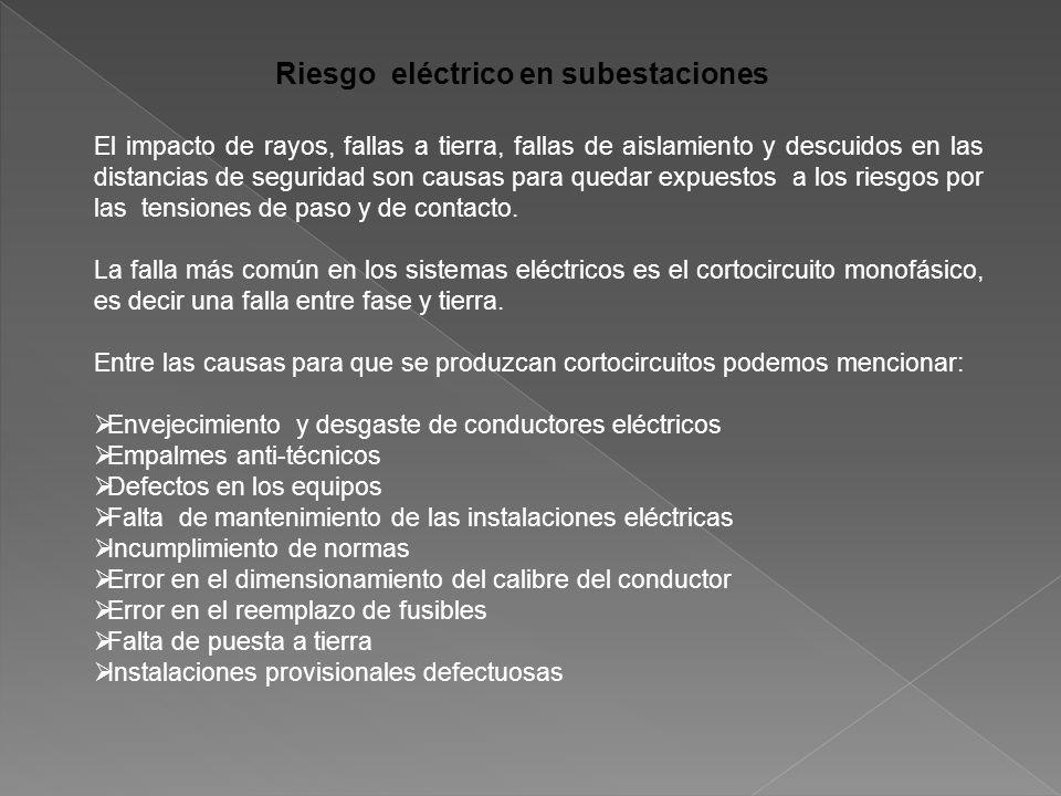 Riesgo eléctrico en subestaciones