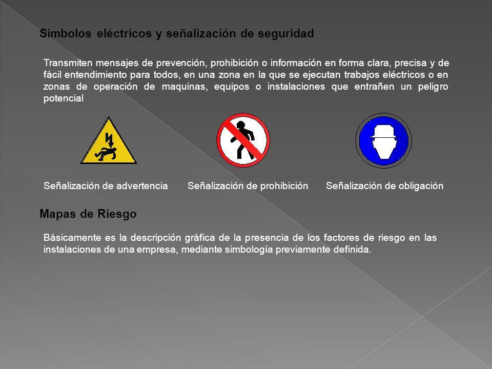 Símbolos eléctricos y señalización de seguridad