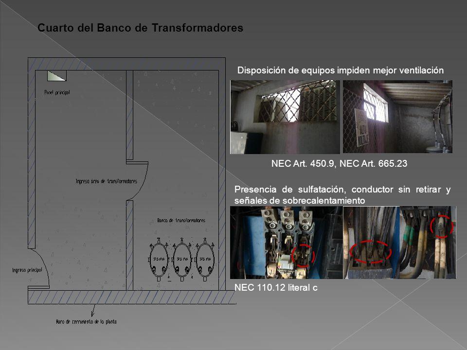 Disposición de equipos impiden mejor ventilación