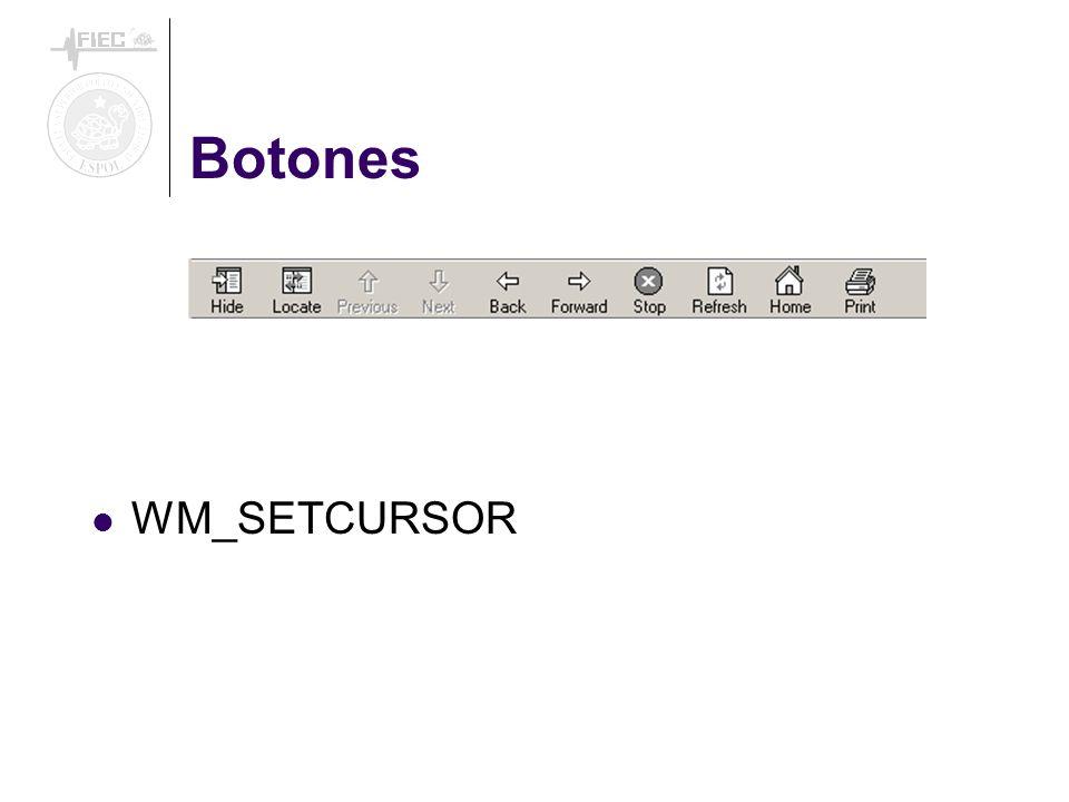 Botones WM_SETCURSOR