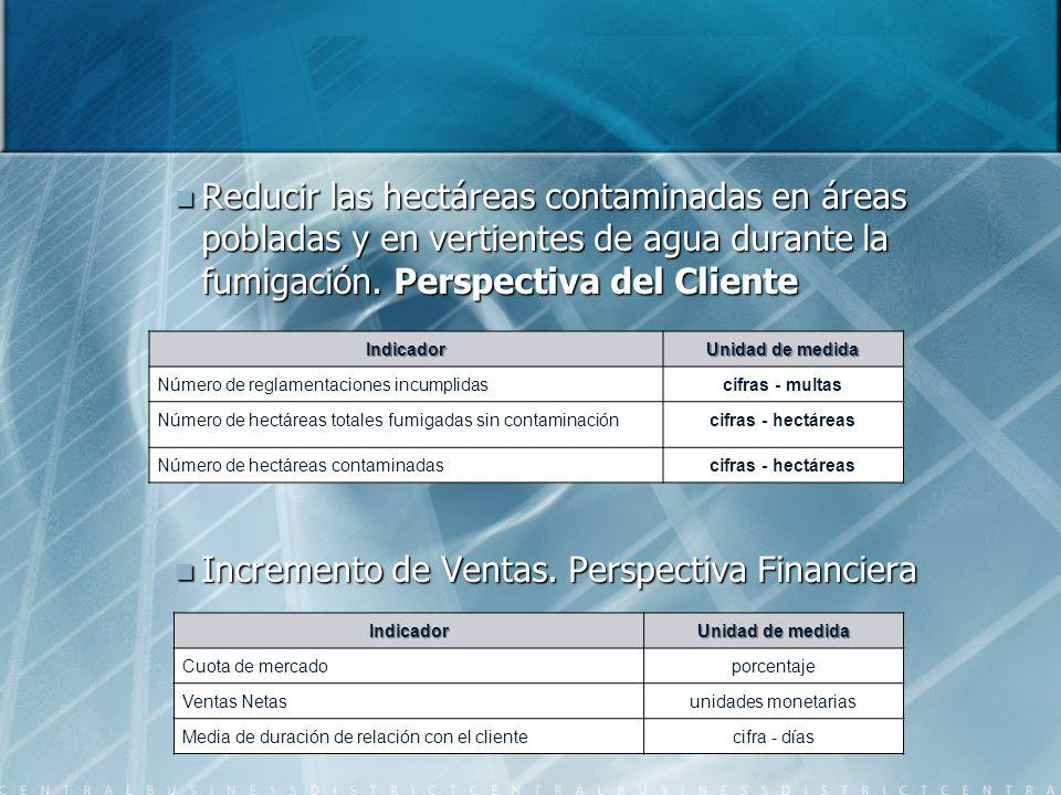 Incremento de Ventas. Perspectiva Financiera