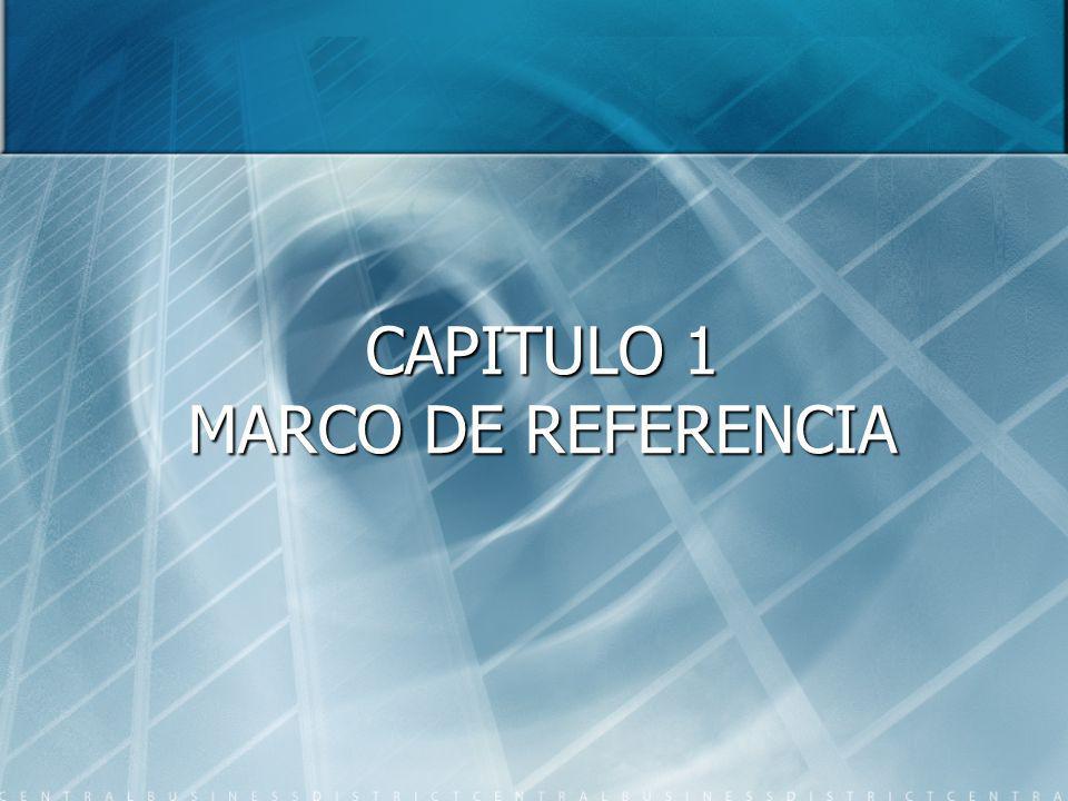 CAPITULO 1 MARCO DE REFERENCIA