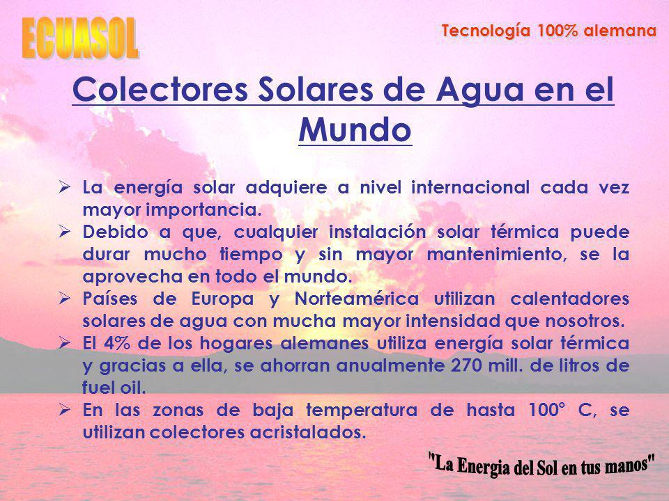Colectores Solares de Agua en el Mundo