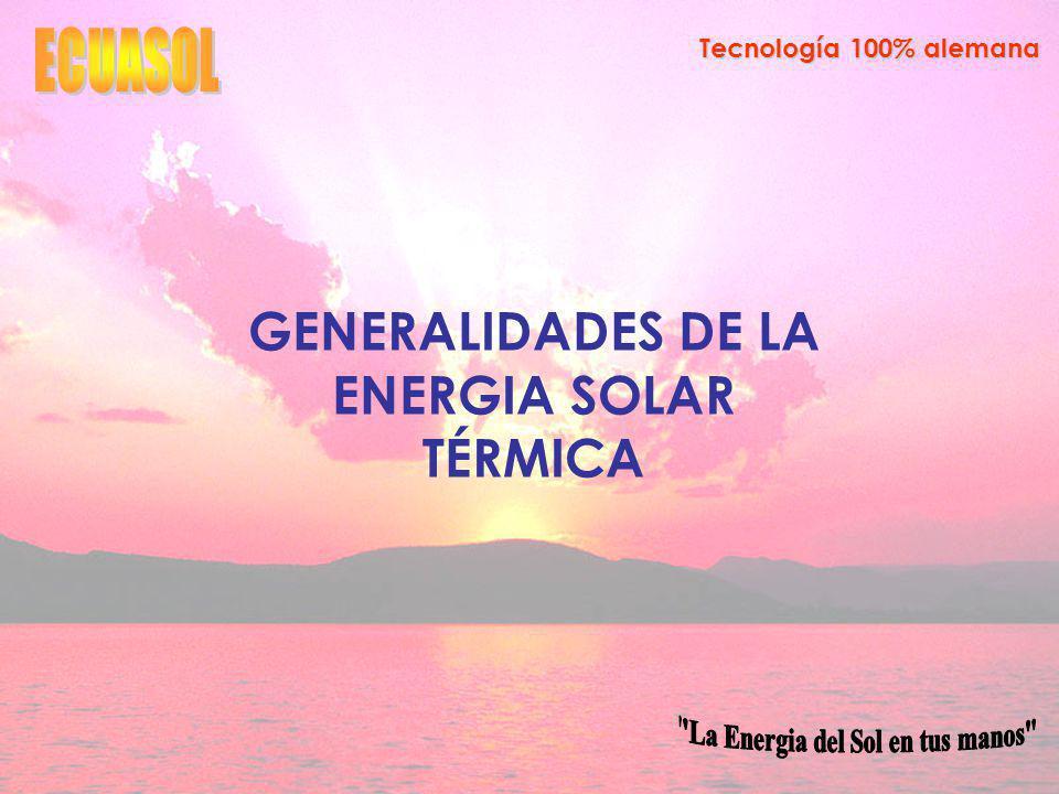 GENERALIDADES DE LA ENERGIA SOLAR TÉRMICA