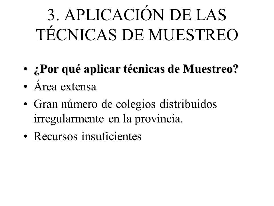 3. APLICACIÓN DE LAS TÉCNICAS DE MUESTREO