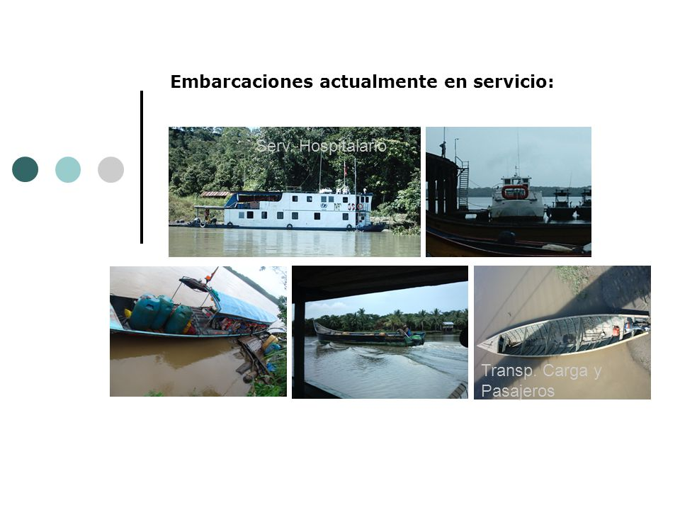 Embarcaciones actualmente en servicio: