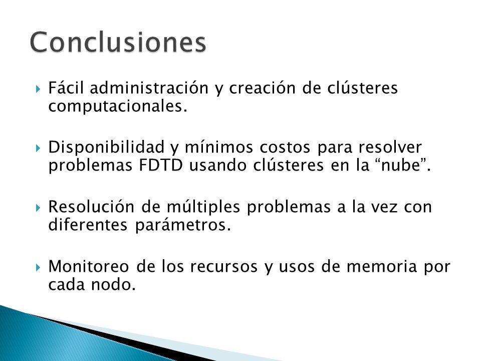 Conclusiones Fácil administración y creación de clústeres computacionales.