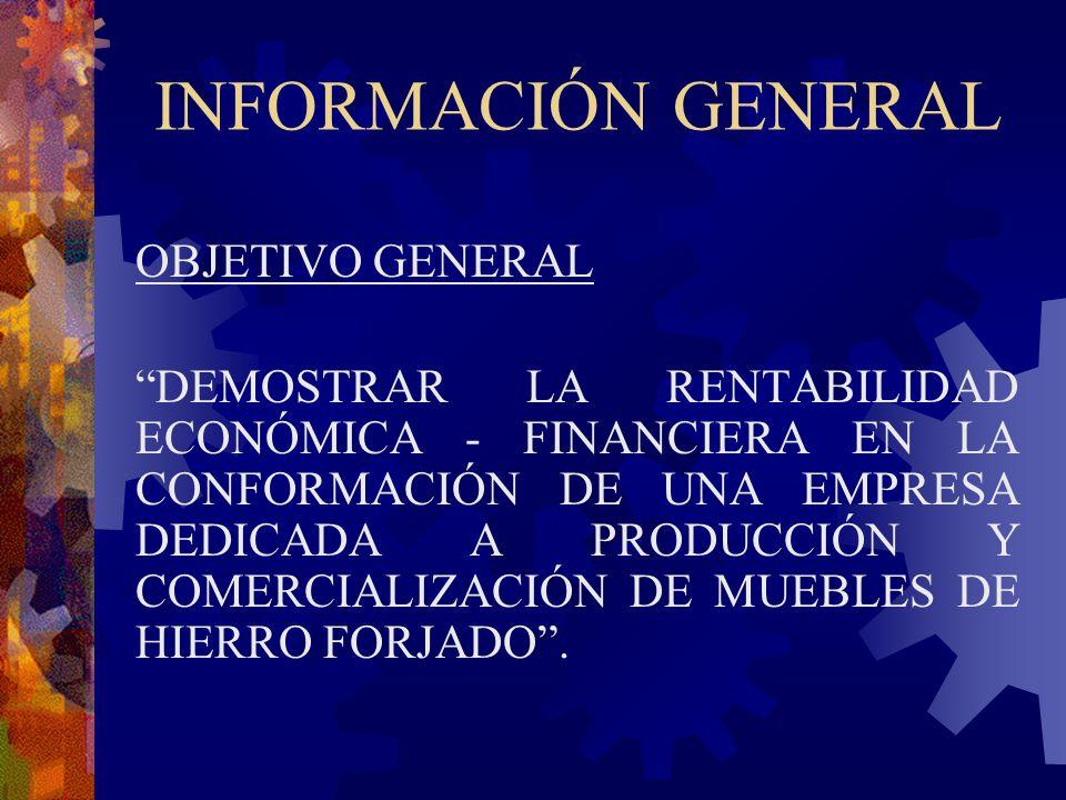 INFORMACIÓN GENERAL OBJETIVO GENERAL