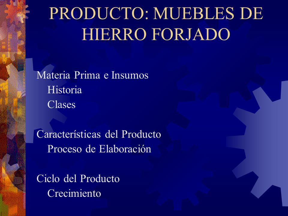 PRODUCTO: MUEBLES DE HIERRO FORJADO
