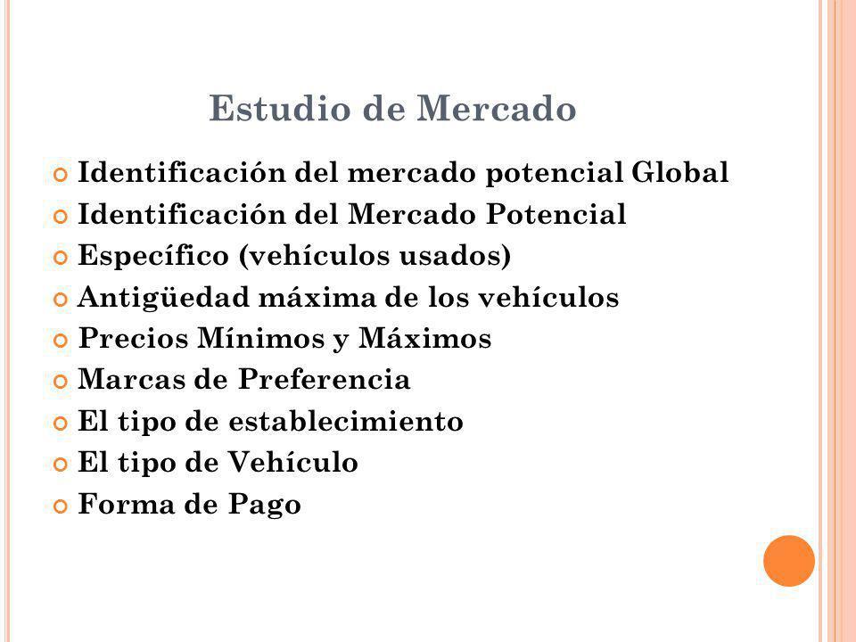 Estudio de Mercado Identificación del mercado potencial Global