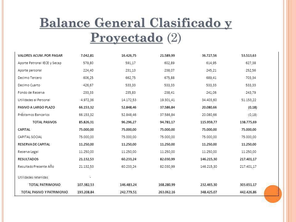 Balance General Clasificado y Proyectado (2)