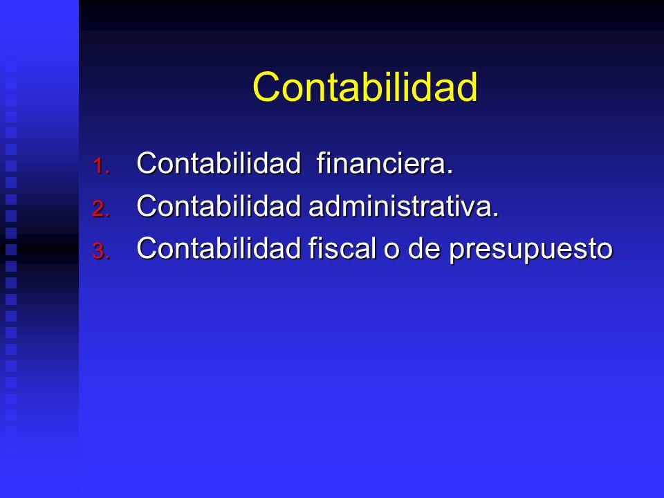 Contabilidad Contabilidad financiera. Contabilidad administrativa.