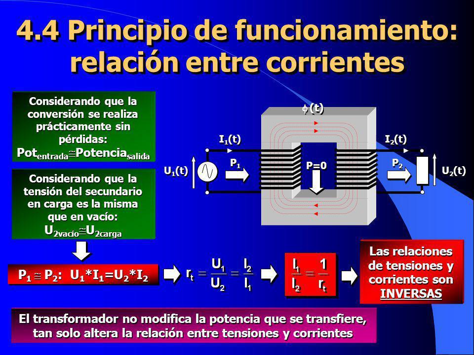4.4 Principio de funcionamiento: relación entre corrientes